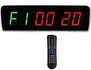 Suoloung 4,6cm haute 6chiffres Horloge Minuteur d'Intervalle, Compte à rebours et compter jusqu'à LED, 12/24-h Horloge en temps réel, chronomètre par télécommande de la marque SUOLOUNG image 0 produit