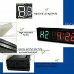 Suoloung 4,6cm haute 6chiffres Horloge Minuteur d'Intervalle, Compte à rebours et compter jusqu'à LED, 12/24-h Horloge en temps réel, chronomètre par télécommande de la marque SUOLOUNG image 4 produit