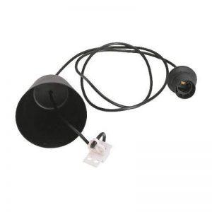 Suspension Cordon électrique E-27, en NOIR. 100 cm Réglable, 60 watt de la marque m image 0 produit