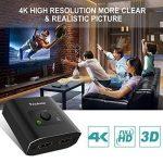 Switch HDMI, Techole Commutateur HDMI Bi-direction 1 Entrée vers 2 Sorties ou 2 Entrées vers 1 Sortie Sélecteur HDMI Manuel Prend en Charge HD 3D 1080P 4K, pour Lecteur HDTV / Blu-Ray / DVD / DVR etc de la marque Techole image 4 produit