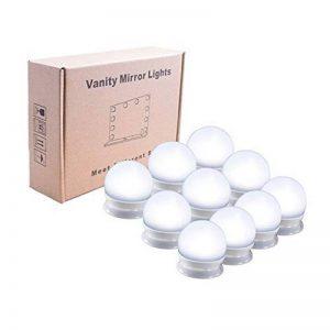 Symboat Mirror Light Lumiere LED Miroir Lampe pour Miroir Vanity LED Mirror Lights Kit Dimmable 10 ampoules d'éclairage bande de montage bricolage pour coiffeuse maquillage de la marque Symboat image 0 produit