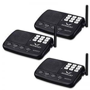 Système d'interphone sans fil Hosmart 500 mètres pour la maison et le bureau (3 stations) de la marque Hosmart image 0 produit