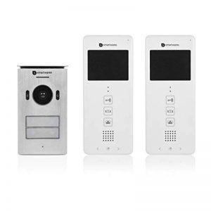"""Système d'interphone vidéo Smartwares DIC-22122 – 480p – Écran LCD de 3,5"""" – Kit pour 2 appartements de la marque Smartwares image 0 produit"""