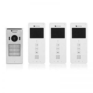 """Système d'interphone vidéo Smartwares DIC-22132 – 480p – Écran LCD de 3,5"""" – Kit pour 3 appartements de la marque Smartwares image 0 produit"""