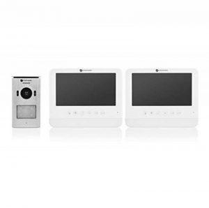 """Système d'interphone vidéo Smartwares DIC-22222 – HD 720p – Écran LCD de 7""""– Kit pour 2 appartements de la marque Smartwares image 0 produit"""