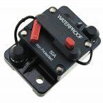 T Tocas(tm) 50 Ampères Disjoncteur Circuit Breaker avec Manuel Interrupteurs DC 12V- 48V, imperméable à l'eau pour Bateau Voiture Yacht RV(50A) de la marque T Tocas image 2 produit