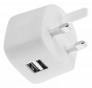 TecPlus Expedition Chargeur Secteur Adaptateur Prise UK avec 2 ports USB 3.4A, Auto-Détection et Charge Rapide pour iPhone 7/6s/6/Plus, iPad, Galaxy S7/S6/Edge, Tablettes, etc… - Blanc de la marque TecPlus image 0 produit