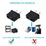 TedGem Lot de 4 adaptateurs pour prises électriques secteur Convertisseur Prise Adaptateur pour prises Européennes FR/DE/EU à connecter à une prise US - Parfait pour voyager de la marque TedGem image 4 produit