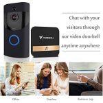 Tenswall Sonnette vidéo sans fil, Caméra de sécurité Wifi HD 720P, Système bidirectionnel de conversation et de vidéo en temps réel, Détection de mouvement, Vision de nuit infrarouge multifonction intégrée de la marque Tenswall image 2 produit