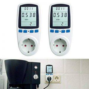 Tevigo - Contrôleur de consommation & coût électrique 16 A/ 3680 W; Set de 2 - Prise Allemande de la marque Asigo image 0 produit