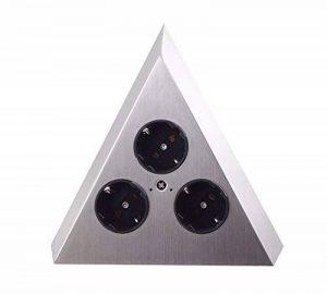 Thebo-Licht ST 3007-C Multiprise en forme de pyramide avec trois prises, branchements électrique, fiche électrique, prise femelle en inox de la marque THEBO Licht image 0 produit