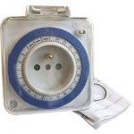 Tibelec 562410 Prise programmateur journalier mécanique compact pour Utilisation extérieure de la marque TIBELEC image 2 produit