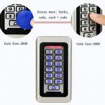 Tivdio Contrôle d'Accès Digicode Clavier à Code Autonome Métallique Étanche RFID Carte de Proximité 125KHz Clavier Rétro-éclairé pour 2000 Utilisateurs (Argenté) de la marque Retekess image 1 produit