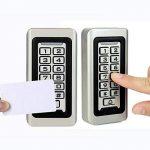 Tivdio Contrôle d'Accès Digicode Clavier à Code Autonome Métallique Étanche RFID Carte de Proximité 125KHz Clavier Rétro-éclairé pour 2000 Utilisateurs (Argenté) de la marque Retekess image 4 produit