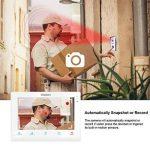TMEZON 10 Pouces Intelligente IP Vidéo Interphone Wifi/Sans Fil Écran Tactile Vidéo Moniteur Sonnette d'extérieur Doorphone Téléphone de Porte d'accès Système Interphone D'entrée avec 1x720P Sonnette de Caméra Filaire, 2xHD 1.3MP Caméra de surveillance Vi image 3 produit