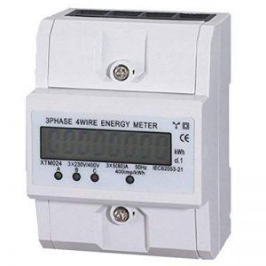 TOOGOO 3x5(80A) Compteur Energie Electrique KWH Triphase DIN Rail Mount LCD de la marque TOOGOO image 0 produit