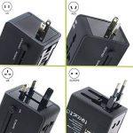 TOOGOO Adaptateur Voyage, dans le monde entier tout en un Voyage Socket Universal Plug Converter USB deux ports de charge AC Power Plug Chargeur pour les telephones cellulaires USA, UK, EU AUS de la marque TOOGOO image 3 produit