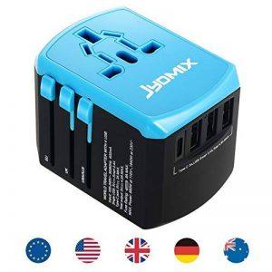 tout en un adaptateur d'alimentation USB de voyage universel avec 3ports USB et chargeur mural Type-C International dans le monde entier AC prise d'alimentation 8broches AC prise pour multi-pays Voyage UK, EU, au, Asie Plus de 200Pays de la marque JYDM image 0 produit