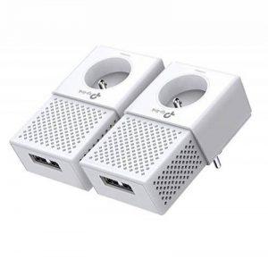 TP-Link CPL 1000 Mbps avec 2 Ports Ethernet Gigabit et Prise Intégrée, Kit de 2 - Solution idéale pour profiter du service Multi-TV à la maison (TL-PA7020P KIT(FR)) de la marque TP-Link image 0 produit