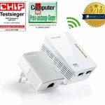 TP-Link CPL 600 Mbps avec 2 Ports Ethernet, 1 CPL Filaire + 1 CPL Wi-Fi - étendez votre connexion Internet dans chaque pièce de la maison (TL-WPA4220 KIT) de la marque TP-Link image 1 produit