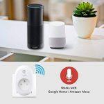TP-Link Prise connectée WiFi avec mesure de consommation, fonctionne avec Amazon Alexa (Echo et Echo Dot), Google Assistant et IFTTT pour la commande vocale, aucun hub requis, contrôle vos appareils connectés depuis n'importe où - HS110(FR) de la marque T image 1 produit