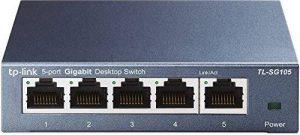 TP-Link TL-SG105 Switch 5 Ports Gigabit (Bureau, Boîtier Métal) de la marque TP-Link image 0 produit