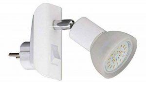 Trango Lampe sur prise LED, veilleuse, comprendune ampoule LED 3000K blanc chaud et un bouton marche/arrêt Moderne Weiß de la marque Trango image 0 produit