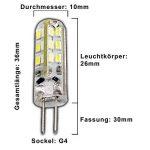 Trango lot de 12 ampoules g4 avec 1,5 w et 24 sMD blanc chaud 12 v dC pour les gradateurs éclairage 360°-versand ampoule halogènes 10 w de la marque PB-Versand image 1 produit