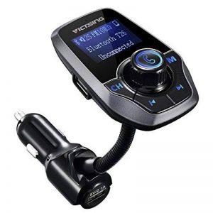 Transmetteur FM Bluetooth VicTsing Kit Voiture Main-libre Sans Fil Adaptateur Radio Chargeur avec Double Port USB et Port Audio 3,5mm, Écran d'Affichage 1,44 Pouces et Port Carte TF pour Iphone, Smartphone IOS / Android etc (Gris) de la marque VICTSING image 0 produit