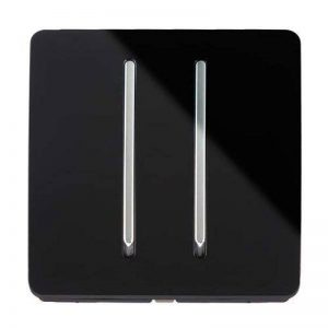 Trendi Switch - Interrupteur Design - 2 boutons - 10 Amp - Noir de la marque Trendi Switch image 0 produit