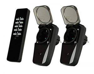 Trust Smart Home AGDR2-3500R Lot de 2 Prises Intégrées Extérieur à Fonction Récepteur avec Télécommande - Gris de la marque Trust Smart Home image 0 produit