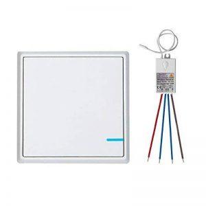TSSS Commutateur de lumière sans fil Avec récepteur Trousse Extérieur Max 1900ft RF Télécommande Lampe Ampoule IP54 Hydrofuge de la marque TSSS image 0 produit