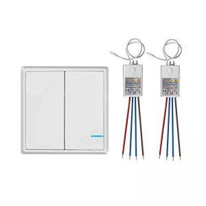 TSSS Kit Interrupteur Sans Fil Sans émetteur Sans Fil de Commutateur Récepteur Contrôleur Pas de Câblage Télécommande étanche Maison d' éclairage et Appareils Récepteur 1000W de la marque TSSS image 0 produit
