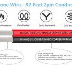 TUOFENG 18 AWG Silicone Fil électrique Câble de rallonge Cordon 50 mètres [Noir 25 m Rouge 25 m] Ligne de fil parallèle 2 conducteurs Doux et flexible Crochet de calibre 18 sans brin Fil de cuivre étamé de la marque TUOFENG image 1 produit