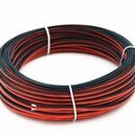 TUOFENG 20 AWG Silicone Fil électrique Cordon de rallonge Cordon 50 mètres [Noir 25 m Rouge 25 m] Fil parallèle 2 fils Conducteur souple et flexible 20 Gauge sans brins Fil de cuivre étamé de la marque TUOFENG image 4 produit