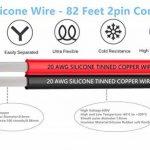 TUOFENG 20 AWG Silicone Fil électrique Cordon de rallonge Cordon 50 mètres [Noir 25 m Rouge 25 m] Fil parallèle 2 fils Conducteur souple et flexible 20 Gauge sans brins Fil de cuivre étamé de la marque TUOFENG image 1 produit