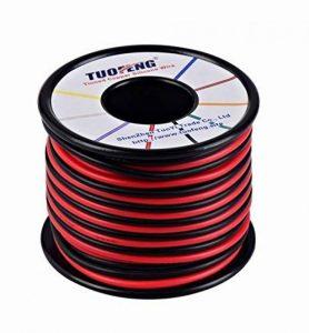 TUOFENG Fil 16 AWG, fil de silicone de 20 m Fil de cuivre étamé Souple et flexible Résistance à haute température 2 fils séparés 10 m Noir et 10 m Fil rouge pour imprimante 3D, cordons de test de la marque TUOFENG image 0 produit