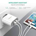 UGREEN 2 Ports USB Chargeur Adaptateur Secteur USB Mural Universel 17W pour iPhone XS Max XR Huawei P20 Honor 10 Galaxy S9 A8 Tablette Smartphone Téléphone (Blanc) de la marque UGREEN image 1 produit