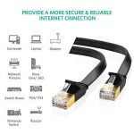 UGREEN CAT 7 Plat Câble Ethernet Réseau RJ45 Haut Débit 10Gbps 600MHz STP 8P8C pour Nintendo Switch, Routeur, Modem, Switch, TV Box, PC, Xbox, PS3, PS4, Consoles de Jeux etc. Noir (10M) de la marque UGREEN image 1 produit
