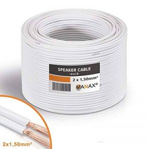 Unbekannt Câble pour haut-parleur 2x 1,5mm² 30m - white de la marque Unbekannt image 0 produit