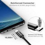 UNBREAKcable Cable USB C 3.0 [1m/3.3ft] Cable USB Type C en Nylon Ultra Résistant Pour Samsung Galaxy S9/S8 Note 7 Nouveau Macbook Pro, ChromeBook Pixel, Huawei P10/P9,Oneplus 2/3/3T, Sony Xperia X Compact, Nexus 5X/6P etc - Noir de la marque UNBREAKcable image 2 produit