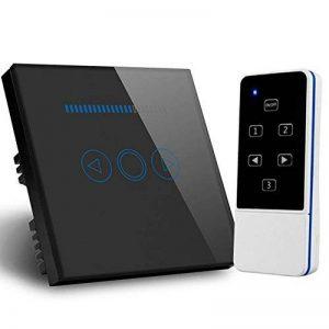 Variateur d'intensité lumineuse intelligent standard britannique en verre cristal tactile avec sa télécommande , noir, 220.0V de la marque Rongda Smart Home image 0 produit