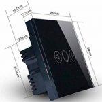 Variateur d'intensité lumineuse intelligent standard britannique en verre cristal tactile avec sa télécommande , noir, 220.0V de la marque Rongda Smart Home image 2 produit