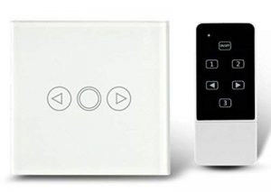 Variateur d'intensité standard britannique Cristal tactile en verre et télécommande Variateur de lumière Interrupteur variateur d'intensité à écran tactile Smart Switch de la marque Rongda Smart Home image 0 produit