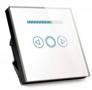 Variateur de lumière norme UE, 500W, LED - Façade en verre trempé transparent - Tactile - Manuel de l'utilisateur (français non garanti), blanc de la marque Rongda Smart Home image 0 produit