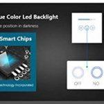 Variateur de lumière norme UE, 500W, LED - Façade en verre trempé transparent - Tactile - Manuel de l'utilisateur (français non garanti), blanc de la marque Rongda Smart Home image 3 produit