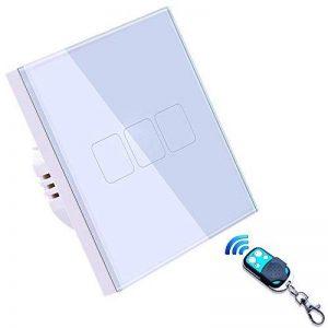 Variateur Interrupteur Intelligent,EU standard interrupteur tactile mural 3 Gang, etanche LED interrupteur telecommande sans fil de la marque JADIS-SMART image 0 produit