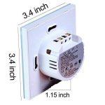 Variateur Interrupteur Intelligent,EU standard interrupteur tactile mural 3 Gang, etanche LED interrupteur telecommande sans fil de la marque JADIS-SMART image 1 produit
