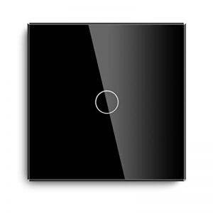 Variateur Interrupteur Tactile 1 Touches Verre Noir 86mm - Fonctionne avec Ampoule à LED Dimmable, Incandescence de la marque Bseed image 0 produit