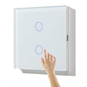 Variateur Interrupteur Tactile 2 touches Dimmable LED compatible Verre Blanc 86mm de la marque Bseed image 0 produit